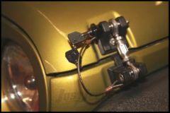 Drake Off Road Billet Aluminum Locking Hood Hold Downs For 2007-18 Jeep Wrangler JK 2 Door & Unlimited 4 Door Models D-JP-190001-LK