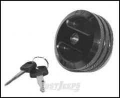 Drake Off Road Billet Black Aluminum Locking Fuel Cap For 2001+ Jeep Wrangler TJ Models, JK 2 Door & Unlimited 4 Door D-JP-190005-BLK