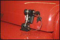 Drake Off Road Billet Aluminum Locking Hood Hold Downs For 1997-06 Jeep Wrangler TJ & TLJ Unlimited Models D-JP-190021-LK