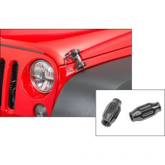 DV8 Offroad Hood Hold Downs with Turnbuckles for 07-18 Jeep Wrangler JK 12600-