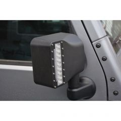 DV8 Offroad LED Mirror Housing with Turn Signals for '07-18 Jeep Wrangler JK, JKU BCME27W3W