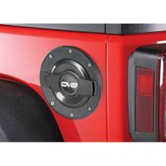 DV8 Offroad Fuel Door in Black for 07-18 Jeep Wrangler JK, JKU D-JP-190004-BLACK