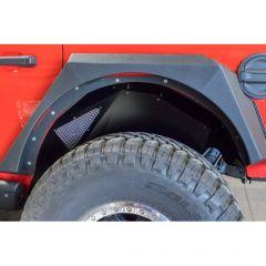 DV8 Offroad Black Rear Inner Fenders for 18+ Jeep Wrangler JL, JLU INFEND-03RB