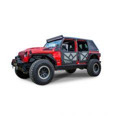 DV8 Offroad Aluminum Half Doors with Screens for 18+ Jeep Wrangler JLU & 20+ Gladiator JT HDJL-