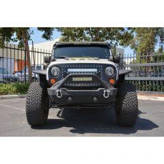 DV8 Offroad Mesh LED Grille for 07-18 Jeep Wrangler JK, JKU GRABB07-04