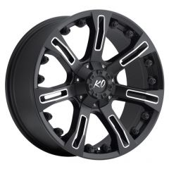 DV8 Offroad Anaconda 840 Series Wheel in Matte Black with Milled Accents for 07-20+ Jeep Wrangler JK, JL and Gladiator JT 840-