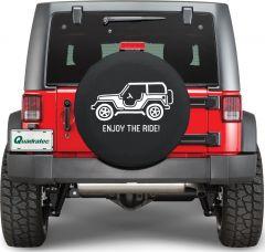 Quadratec Enjoy The Ride Tire Cover ENJOY-