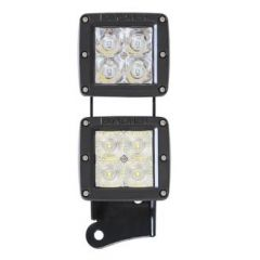 Pro Comp Dual LED Sport Light Kit For 2007-18 Jeep Wrangler JK 2 Door & Unlimited 4 Door Models EXP76410P
