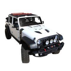 Exposed Racks Under Soft Top Roof Rack for 07-18 Jeep Wrangler Unlimited JK 4-Door 8-00-87JKUS-