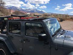 Exposed Racks Under Soft Top Roof Rack for 07-18 Jeep Wrangler JK 2-Door 8-00-9JK2S