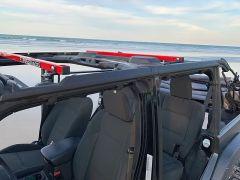 Exposed Racks Under Soft Top Roof Rack for 18+ Jeep Wrangler Unlimited JL 4-Door 8-00-96JLU4-