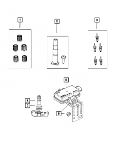 Mopar Tire Pressure Sensor Kit for 2020+ Jeep Gladiator JT 68510382AA