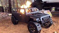 Fab Fours Jeep Fire Pit In Bare Steel FFFPJP-B