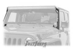 """Fishbone Offroad 52"""" Windshield Light Bar Brackets For 2007-18 Jeep Wrangler JK 2 Door & Unlimited 4 Door Models FB21014"""