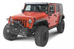 Fishbone Offroad Front Stubby Winch Bumper with Tube Guard for 07-18 Jeep Wrangler JK, JKU FB22001