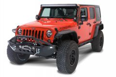 Fishbone Offroad Full Width Front Winch Bumper with LEDs for 07-18 Jeep Wrangler JK, JKU FB22003