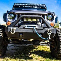 DV8 Offroad FS-15 Hammer Forged Front Bumper  For 2007-18 Jeep Wrangler JK 2 Door & Unlimited 4 Door Models FBSHTB-15 FBSHTB-15