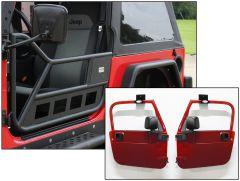 Fishbone Offroad Tube Doors with Door Hangers for 97-06 Jeep Wrangler TJ FB24077
