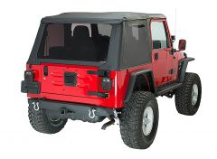 Fishbone Offroad Rear Bumper with Receiver Hitch for 87-06 Jeep Wrangler YJ, TJ, and 04-06 Unlimited LJ FB22217