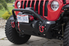 Fishbone Offroad Stubby Front Bumper for 18+ Jeep Wrangler JL & 20+ Gladiator JT FB22178