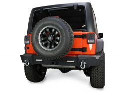 Fishbone Offroad Rear Bumper with LEDs for 07-18 Jeep Wrangler JK, JKU FB22032