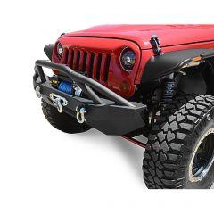 DV8 Offroad FS-14 Hammer Mid Width Front Bumper for 07-20+ Jeep Wrangler JL, JK & Gladiator JT FBSHTB-14