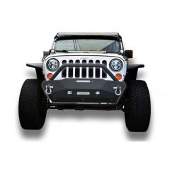 DV8 Offroad FS-16 Hammer Stubby Bumper with Skid Plate for 07-20+ Jeep Wrangler JK, JL and Gladiator JT FBSHTB-16