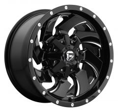 Fuel Off-Road D574 Cleaver Wheel in Black with Machined Accents D57417902645
