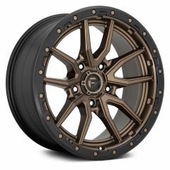 Fuel Off-Road Rebel 5 D681 Wheel, 20x9 with 5 on 5 Bolt Pattern - Bronze / Black - D68120907557