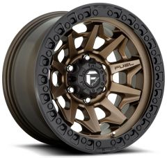 Fuel Off-Road D696 Covert Wheel in Bronze with Black Ring 17x9 with 4.50in Backspace D69617907545