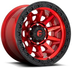 Fuel Off-Road D695 Covert Wheel in Candy Red with Black Ring 17x9 with 4.50in Backspace D69517907545