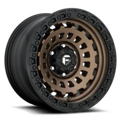 Fuel Off-Road Zephyr D634 Wheel, 20x9 with 5 on 5 Bolt Pattern - Bronze / Black - D63420907550