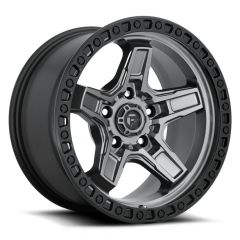 Fuel Off-Road D698 Kicker Wheel in Anthracite with Black Ring 17x9 with 4.50in BackspaceD69817907545