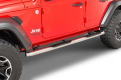 "Go Rhino 4000 Series 3"" Round Tube Steps for 18-21 Jeep Wrangler JL Unlimited 4506-"
