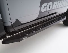 Go Rhino RB20 Running Boards in Textured Black without Step for 20-21 Jeep Gladiator JT 69451687PC