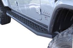 Go Rhino RB20 Running Boards in Bed Liner Coating without Step for 20+ Jeep Gladiator JT 69451687T