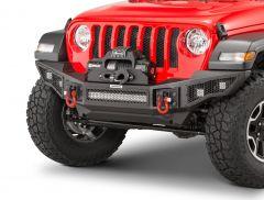 Go Rhino Rockline Winch Ready Front Bumper for 07-20 +Jeep Wrangler JL, JK & Gladiator JT 331200T
