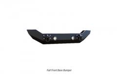 Iron Cross Automotive Full size Base Bumper No Bar (Matte Black) for 18+ JL & Gladiator JT GP-1102