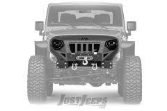 Fab Fours Front Grumper Winch Bumper For 2007-18 Jeep Wrangler JK 2 Door & Unlimited 4 Door Models GR1000-1