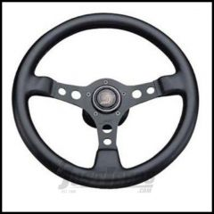 Grant Products Formula GT 3 Spoke Steering Wheel With Black Aluminum Spokes & Stitched Vinyl Grip For 1946-95 Jeep CJ Series, Wrangler YJ & Cherokee XJ