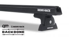Rhino-Rack Heavy Duty RLT600 Black 2 Bar Rhino-Rack Backbone Roof Rack For 2018+ Jeep Wrangler Unlimited JL JB0884