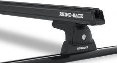 Rhino-Rack Heavy Duty RLT600 Trackmount Black 2 Bar Roof Rack For 2011-18 Jeep Wrangler Unlimited JK JA6244