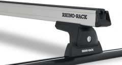 Rhino-Rack Heavy Duty RLT600 Trackmount Silver 2 Bar Roof Rack For 2011-18 Jeep Wrangler JK JA6252