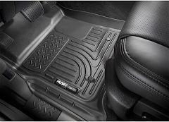Husky WeatherBeater Front Floor Liners (Black) for 18+ Jeep Wrangler JL, JLU, Gladiator JT 13021