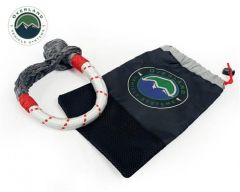 "Overland Systems Soft White Shackle with Loop & Storage Bag 7/16"" (Universal) 19129903"