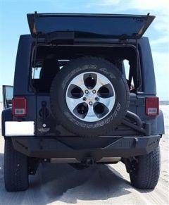 TrailFX Rear Bumper For 2007-18 Jeep Wrangler JK 2 Door & Unlimited 4 Door Models J050T