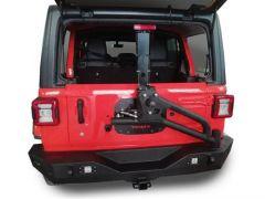 TrailFX Rear Bumper With Tire Carrier For 2018+ Jeep Wrangler JL 2 Door & Unlimited 4 Door Models JL03T