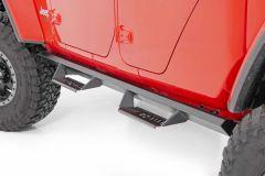 Rough Country Cab-Length AL2 Drop Steps for 20+ Jeep Gladiator JT AL520201