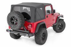 Rough Country Replacement Soft Top for 97-06 Jeep Wrangler TJ Full Steel Doors RC85020-