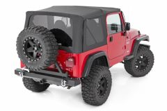 Rough Country Replacement Soft Top for 97-06 Jeep Wrangler TJ Half Steel Doors RC85350-